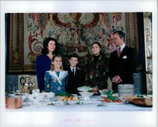 The royal family gathered at the Christmas table
