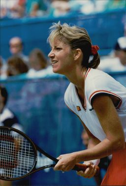 Tennis player Chris Evert is playing in the US Open