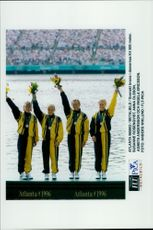 S in Atlanta 1996. Swedish bronze in women's K4 500 meters. Susanne Rosenqvist, Anna Olsson, Agneta Andersson and Ingela Ericsson