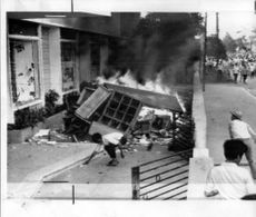 U.S. Library in Hue, South Vietnam ransacked