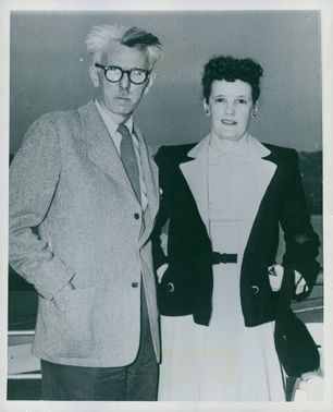James Grover Thurber along with his wife.