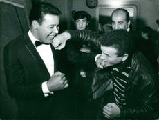 Chubby Checker enjoying with friends.