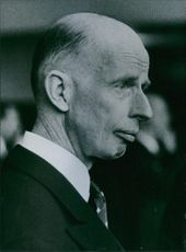 A vintage photo of Dr. Eelco Nicolaas Van Kleffens who is a permanent representative of the Netherlands to the North Atlantic.