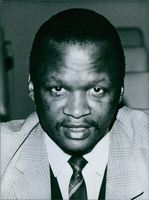 Portrait of member of the National Executive Committee of the Pan-Africanist Congress of South Africa Mr. A. B. NGCOBO. 1965