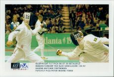 Modern five-match Per Olov Danielsson in one of today's matches in fencing