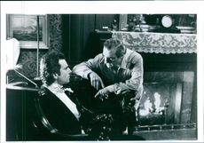 """1993 Daniel Day-Lewis and director Martin Scorsese on the set of the movie """"The Age of Innocence """"."""