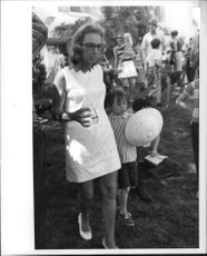 """Robert Francis """"Bobby"""" Kennedy`s wife with her son."""