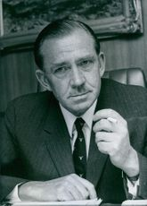 1972 South African Businessmen Portrait of a Chairman of Gold Fields of South Africa Adriaan Louw.