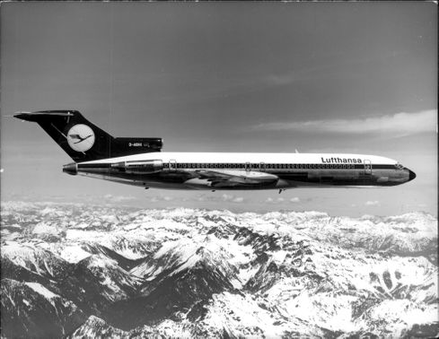 One of Lufthansa's airplanes.