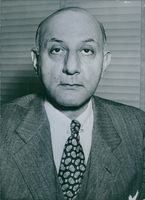 Portrait of Mr. Arthur G. Syran. American Personality. Director, Transportation DIvision, Mutual Secretary Agency.