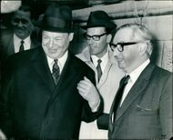 Lord George Brown (r) with German Chancellor Willy Brandt