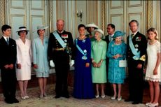 Crown Princess Victoria's 18th birthday together with the Royal Family and many others