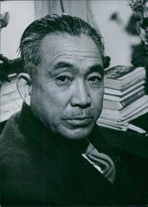 Portrait of Japanese politician Mosaburo Suzuki.