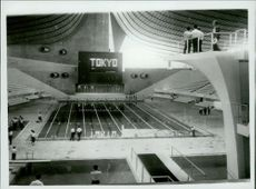 Finished swimming and diving pool for the Olympic Games