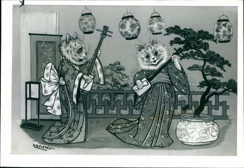 A duet by musically minded cats.
