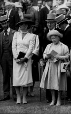 Prince and Princess Michael of Kent with Queen Modern in horse racing
