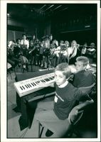 Schools 1988:Recording the ILEA showcase pop-rap themes are pupils.
