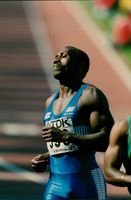 World Cup in Athletics in Gothenburg. Linford Christie 100 m
