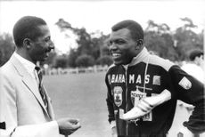 """The Hon. Herbert Henry """"Herb"""" McKenley OM (July 10, 1922 – November 26, 2007) was a Jamaican sprint runner. He competed at the 1948 and 1952 Olympics in six events in total, and won one gold and three silver medals"""