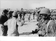Soldiers capture the prisoners in Israel.