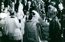 Carlos Hugo, Duke of Parma and Piacenza, and Princess Irene of the Netherlands, wedding ceremony. 1964.