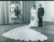 Princess Margriet and Pieter van Vollenhoven's wedding picture.