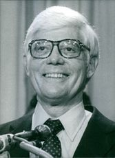 Portrait of U.S. politician John B. Anderson, 1980.