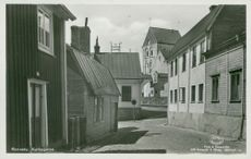 Ronneby. The church street - postcard