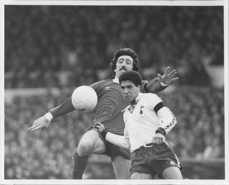 David Johnson (Liverpool) and Chris Hughton (Tottenham)