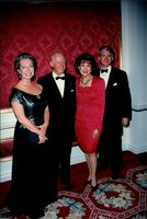 Princess Christina, Thor Heyerdahl, Elizabeth Dole and Ed Gallagher at American-Scandinavian Foundations Gala Dinner