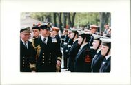 Prince Andrew, Duke of York with Sea Cadets