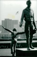 Two statues of Charles Lindbergh