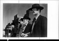 "James Garner, Jason Robards and Robert Ryan in ""The Tombstone Sheriff"""