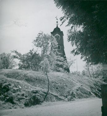 Öregrund. The bell tower that is visible throughout the city