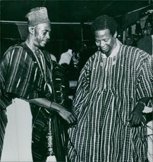 Gift of national dress for Ghanaian.