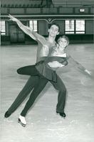 Ice skater Ian Jenkins in practice with Susan Garland