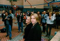 Marie Fredriksson and Per Gessle in Roxette at the start of their European Tour