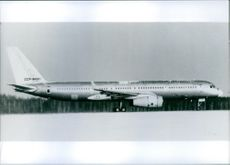 "The new Soviet passenger ""Jumbo"" plane, the TU-204, 1989."