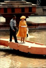 "Queen Elizabeth visited the Sikh's holy city and ""Temple of Gold"" during his state visit in India."