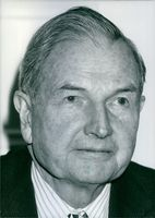 Portrait of David Rockefeller.
