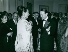 Renata Tebaldi is attending a formal occasion. 1964