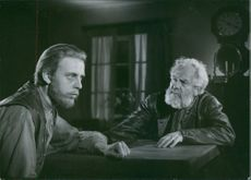 Rune Lindström and Victor Sjöström in the film The Word (Swedish: Ordet), 1943.