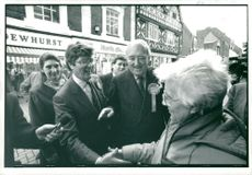 Politician Charles Prior in election campaigning