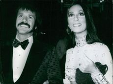 Close up of Sonny & Cher the pop music duo.
