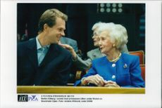Stefan Edberg and Princess Lilian during the finals of Stockholm Open 1996