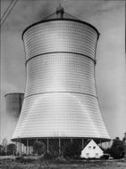 Cooling tower at a nuclear power plant in West Germany