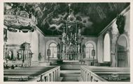 Postcard of interiors in Ulricehamns Church (restored in 1937)