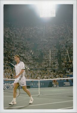 Stefan Edberg participates during the US Open.