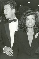 Bianca Jagger along with Calvin Klein