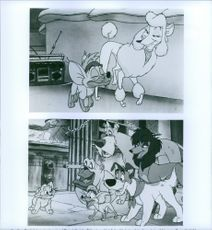 """Scenes from the animated musical buddy comedy film """"Oliver & Company."""""""